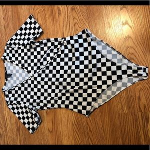 Forever 21 checker board body suit